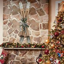 35'' Christmas Galvanized Ski Wall Hanging Sign Floor Decor TkLinkin17 - $103.95