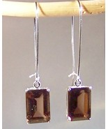 Smoky Quartz Sterling Silver Earrings 14.0 cttw MADE IN USA - $125.00
