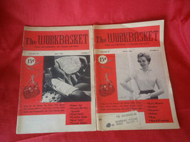 2 Vintage  Workbasket Magazines March  & April 1956 Home and Needlecraft - $10.00
