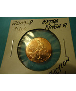 2009 LINCOLN PENNY      DBL DYE OBVERSE EXTRA FINGER       SHIPPING & TR... - $14.85