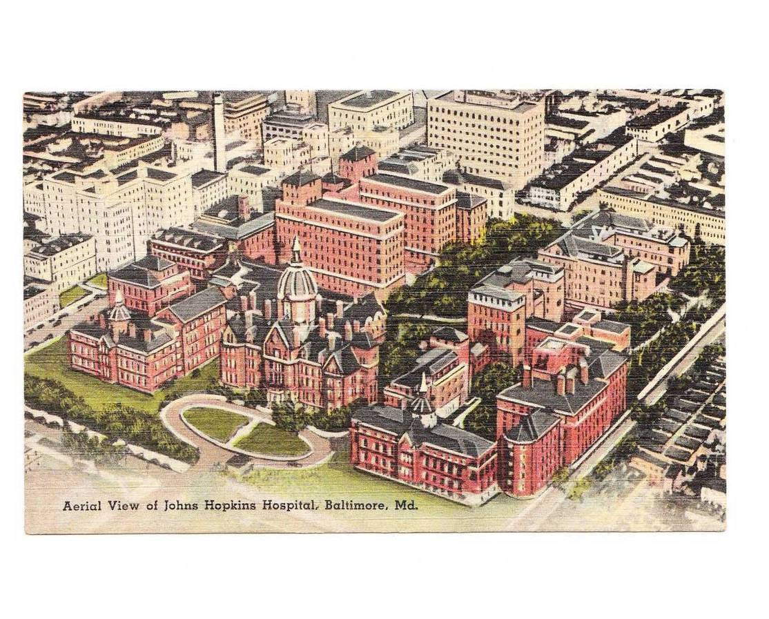 Vintage 1944 Postcard John Hopkins Hospital Baltimore MD