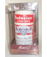 Budweiser Lager Beer Can Christmas Tree Ornament glass Kurt Adler holida... - $17.77