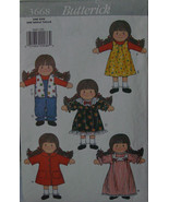 "Pattern 3668 Rag Doll, Clothes 11.5"" - $5.99"