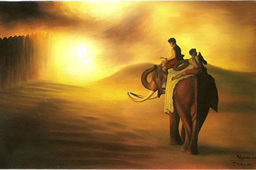Riding Home Oriental Paintings