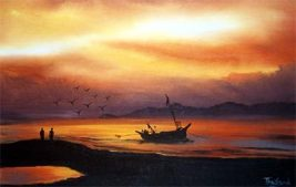 Ocean of Tranquility Acrylic Landscape Paintings - $28.95