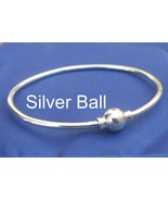 CAPE COD Single Ball 7 Inch Bangle Bracelet 925 Silver SJ34 - $53.00
