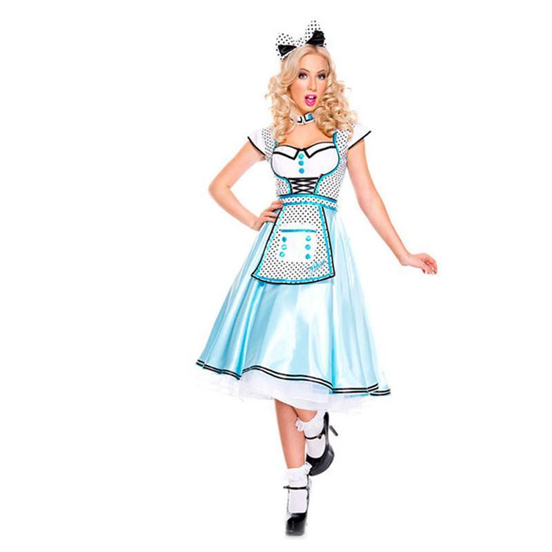 the wonderland alice princess costume adult women halloween carnival alice maid cosplay uniform