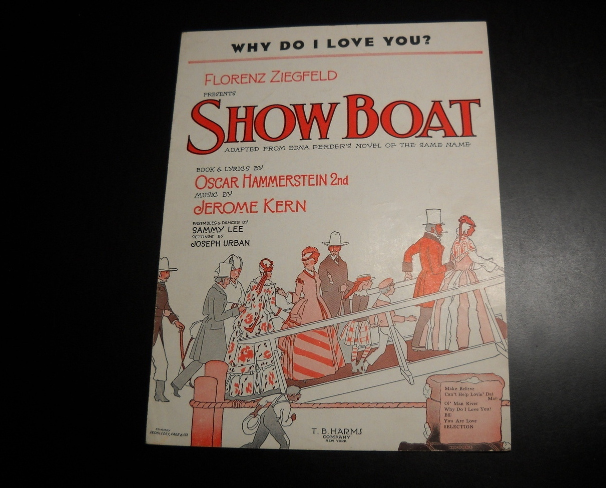 Sheet music show boat why do i love you hammerstein kern ziegfeld 1926 05
