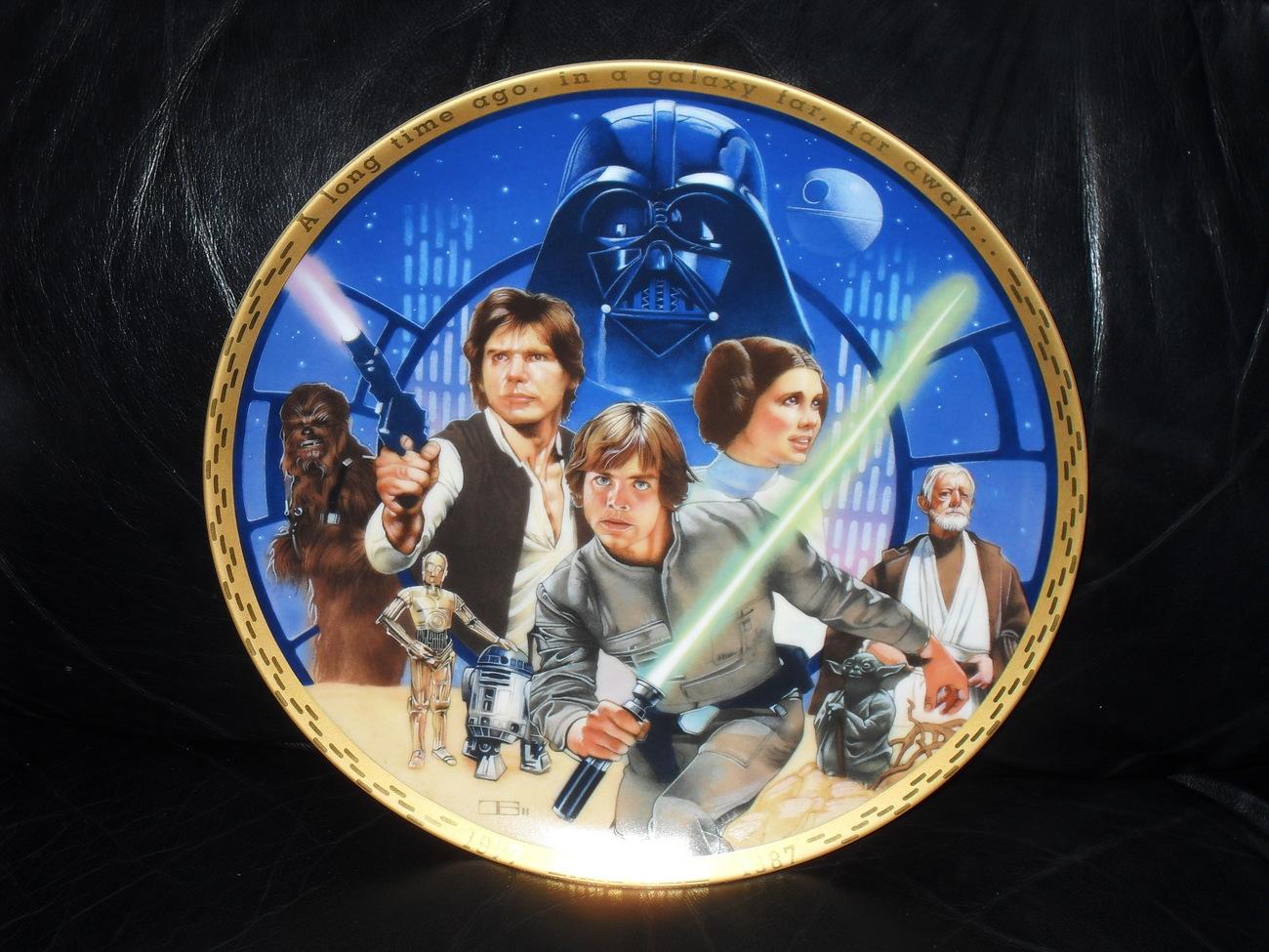 Star Wars 1988  10th Anniversary Commemorative Plate