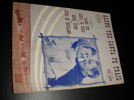Sheet Music Along The Santa Fe Trail Errol Flynn Olivia De Havilland War... - $8.99