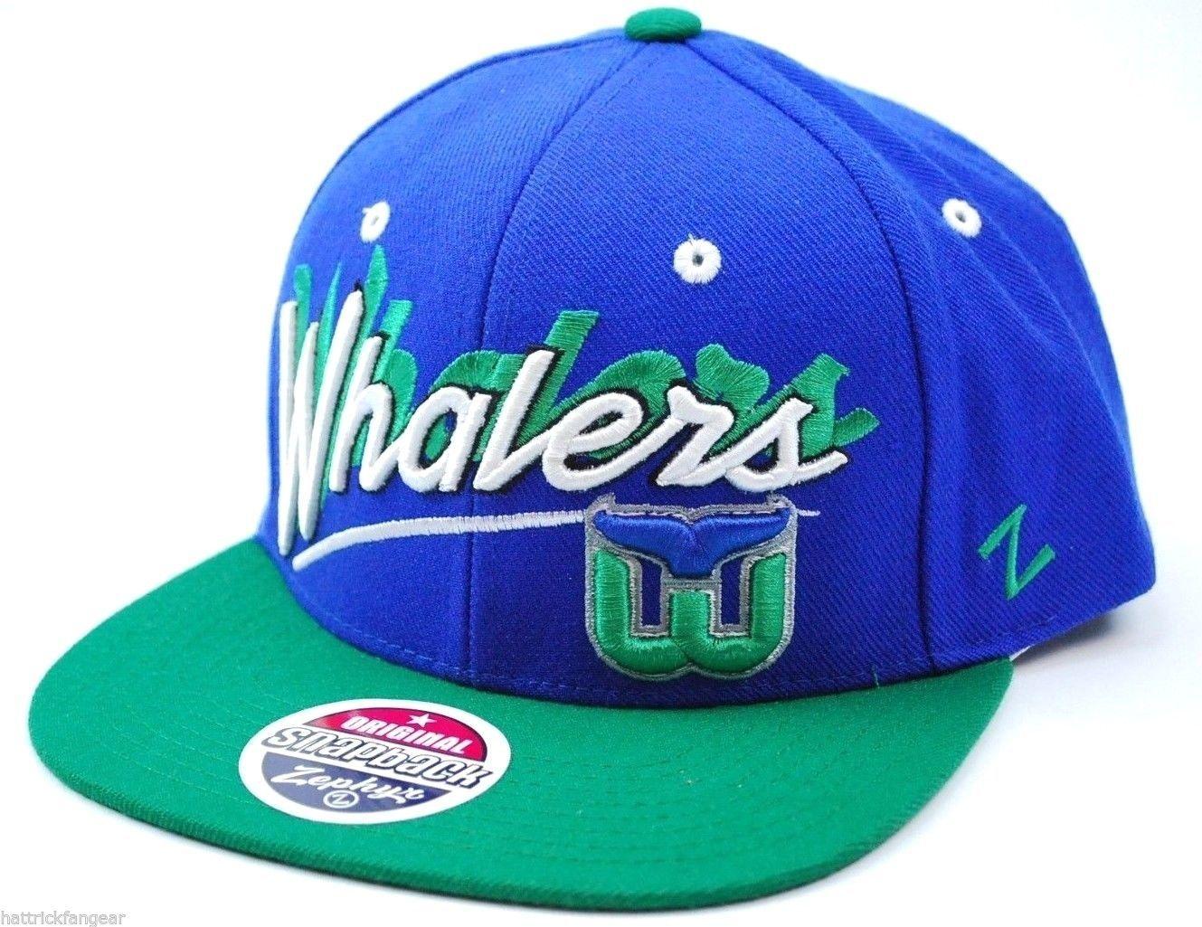 163b9573dec S l1600. S l1600. Hartford Whalers Zephyr Snapback NHL Shadow Script Logo Cap  Hat