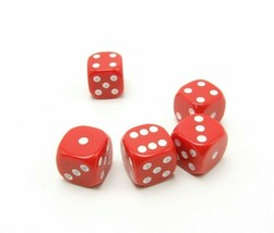 Perudo Red Dice Replacement Game Part Piece Plastic 2008 1808 Rounded Corners - $3.99