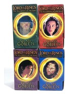 Lord of the Rings Light up GLASS GOBLETS Set of 4 Frodo Gandalf Arwen St... - $34.29