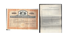 PENNSYLVANIA RAILROAD COMPANY STOCK CERTIFICATE -ON SHARE -1930 - $21.99