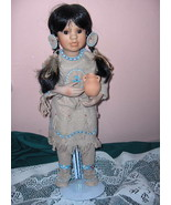 1992 Native American Doll MANY STARS Linda Mason Box St - $79.19