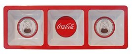 Red Disc Melamine Coca-Cola Divided Snack Tray - $23.95