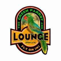 The Green Parrot Lounge Plasma Cut Metal Sign - $45.00