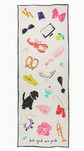 KATE SPADE NWT THINGS WE LOVE OBLONG SCARF CREAM - $95.00