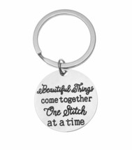 Quilting Jewelry Sewing Gift Key Ring Quilting Keychain Sewing Gifts Sew... - $9.99