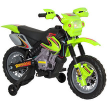 Kids 6V Electric Ride On Motorcycle Dirt Bike W/ Training Wheels - $98.89