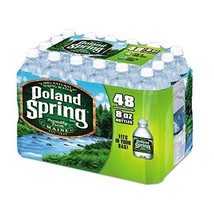 Poland Spring Half Pint Natural Spring Water 8 oz - Pack of 48