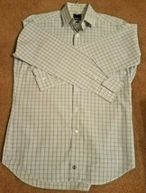 David Donahue 100% Cotton Dress Shirt Men's 16 1/2 -34/35 Trim Fit Checks  - $14.55