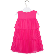 Mayoral Little Girls 2T-9 Fuchsia-Pink Pleated Triple Tier Social Dress image 2