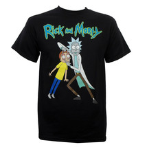 New Rick and Morty Eyes Open Adult Medium Black Cotton Adult Swim T-shirt - $14.85