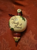 Ceramic Bisque Hand-Painted The Best Gift is Family & Friends Christmas Ornament image 2