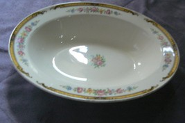 Vintage Edwin M. Knowles China Hostess Shape Victorian Oval Bowl Union M... - $19.79