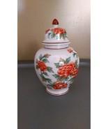 Andrea by Sadek - Red Flower Jar With Lid - $17.99