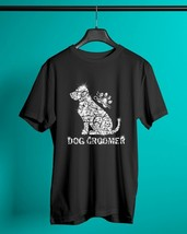 Dog Groomer Diamond Glitter Classic T-Shirt Black Men Cotton Made in USA - $12.99