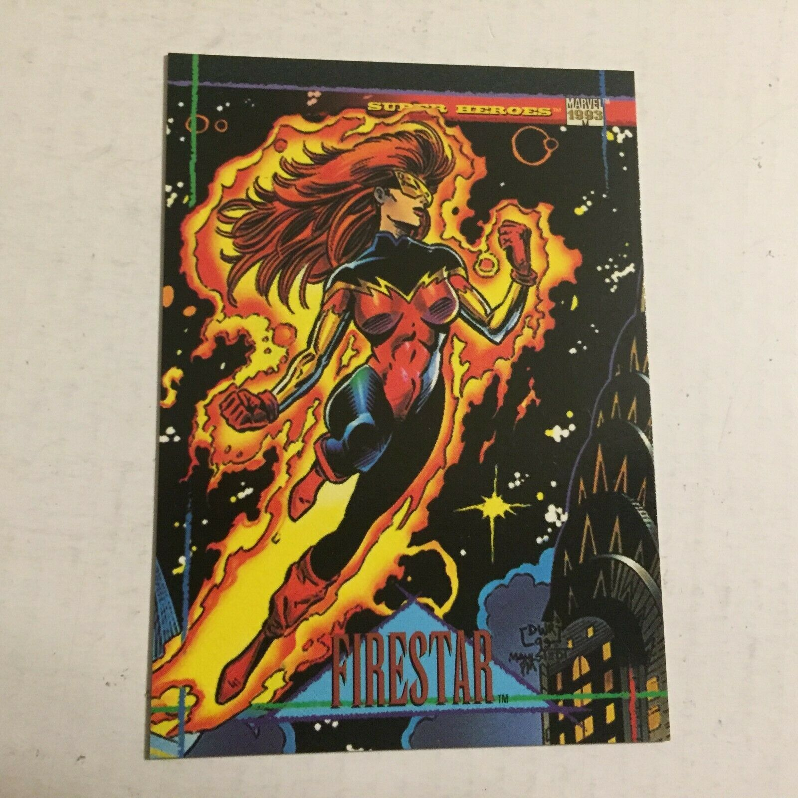 1993 Firestar Super Heroes Marvel Comics Trading Card - $2.99