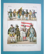 COSTUME Germany Middle Ages Knights Soldiers Trumpeteer - COLOR Antique ... - $17.55