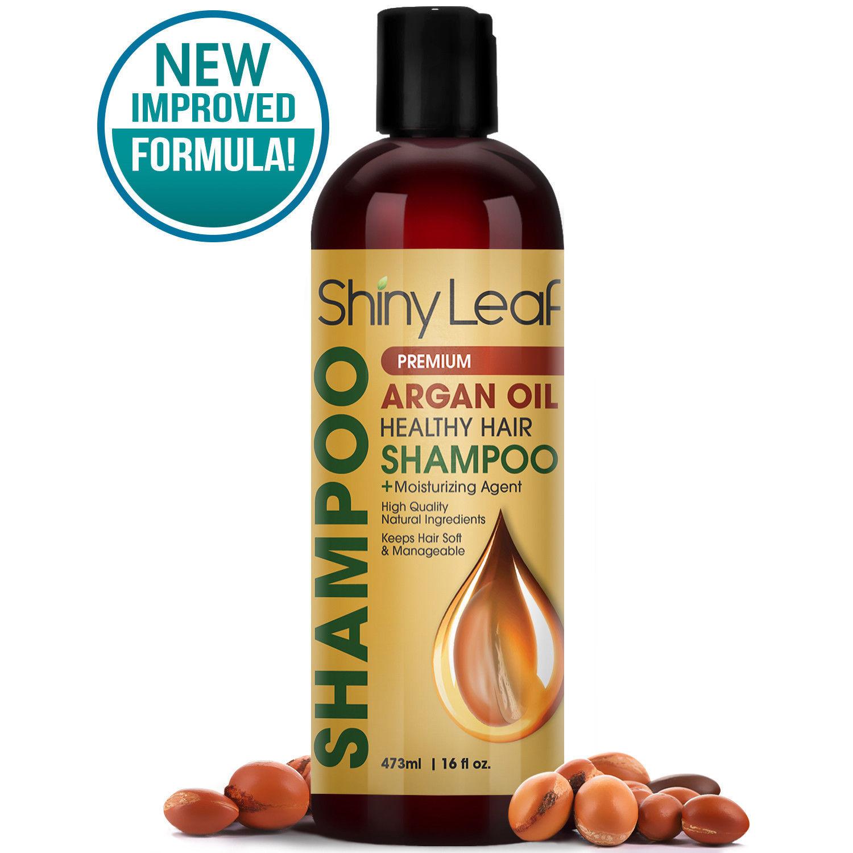 Argan Oil Healthy Hair Shampoo – Premium Anti Hair Loss Treatment by Shiny Leaf for sale  USA