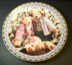 "Teddy Tompkins plate A Bouqet to Bear my Love Enesco 1997 8.25"" Valentine - $12.43"