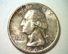 1949 WASHINGTON QUARTER GEM / SUPERB UNCIRCULATED GEM / SUPERB UNC. TONE... - $115.00