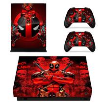 Xbox One X Console Skins Vinyl Decals Stickers Deadpool Marvel Comic Super Hero - $13.07