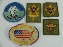 BSA VTG  Patch Lot 5 Patches Be Prepared 1975 Klondike Derby Golden Eagle 1971 - $18.99