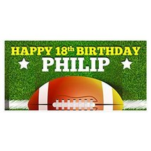 18th Birthday Banner Football Party Backdrop Decoration - €18,70 EUR