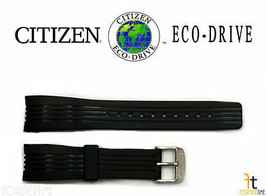 Citizen Eco-Drive BL5300-06E Original 22mm Black Rubber Watch Band Strap... - $74.95