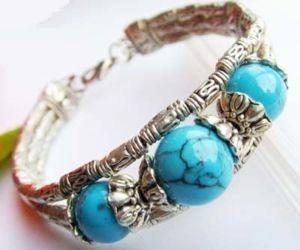 378 silver turquoise bracelet