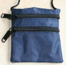 2 NEW TRAVEL KIDS NECK WALLET MEN WOMEN BLUE PASSPORT TRIPS  - $7.99