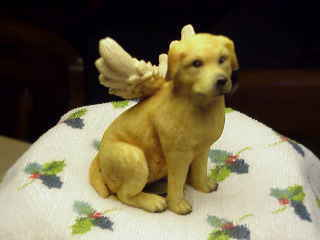 Golden Lab Angel Dog Angel Figurine