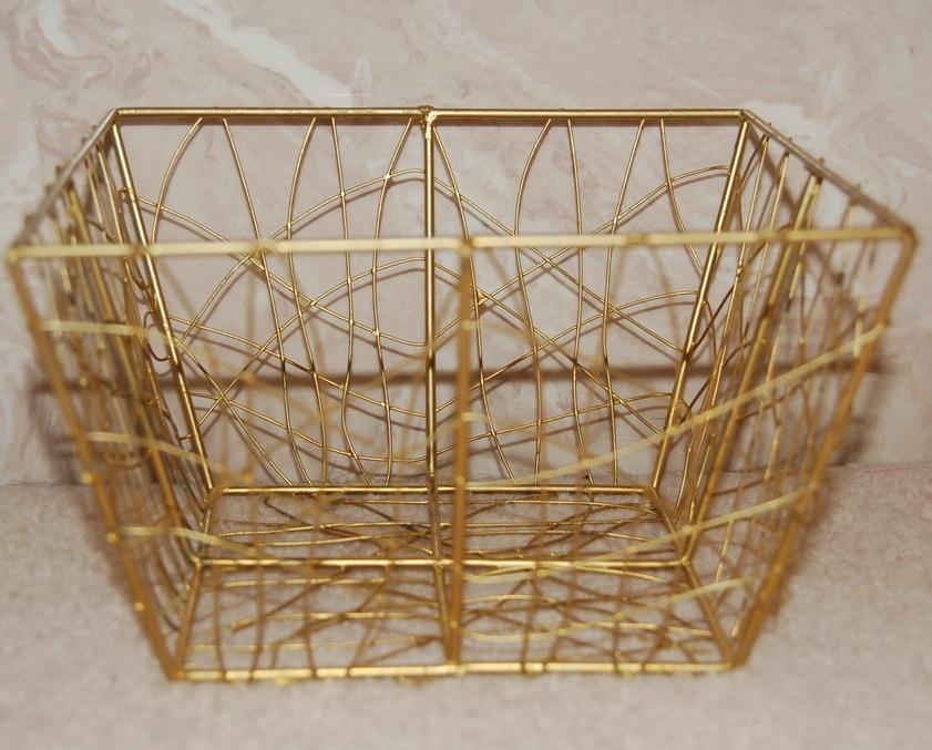 Goldtone wire basket