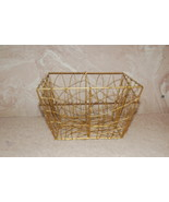Gift Basket Goldtone Wire from Avon 5 inch Square - $4.00
