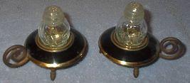 Vintage Lamp Lantern Figural Salt and Pepper Shaker Set - $7.00