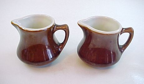 2 Vintage Hall China Individual Creamers -Made in USA
