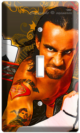 CM PUNK JACK BROOKS PROFESSIONAL WRESTLING SINGLE LIGHT SWITCH COVER PLATE WWE