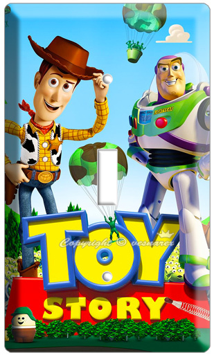 DISNEY TOY STORY 3 WOODY BUZZ & LIGHTYEARS SINGLE LIGHT SWITCH WALL PLATE POSTER